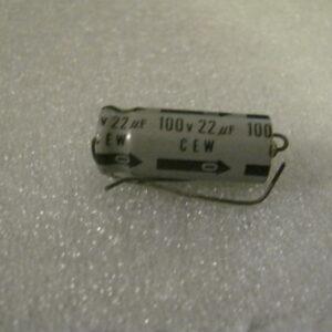 Condensatore Elettrolitico 22uF 100V Assiale