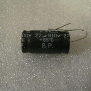 Condensatore Elettrolitico non Polarizzato 22uF 100V Assiale