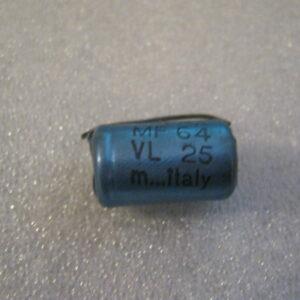 Condensatore Elettrolitico 64uF 25V Assiale