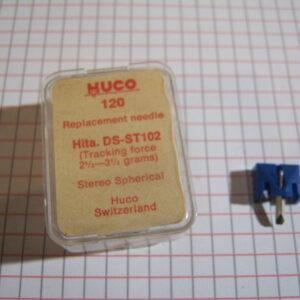Puntina Giradischi HUCO 120 per Hitachi DS-ST 102 ( 2,1/2-3,1/2 grams )
