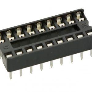 Zoccolo 18 pin per Circuiti Integrati passo 2,54