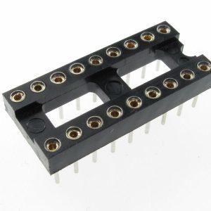 Zoccolo 18 pin Tornito per Circuiti Integrati passo 2,54