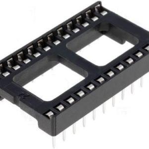 Zoccolo 24 pin per Circuiti Integrati passo 2,54