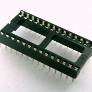 Zoccolo 28 pin per Circuiti Integrati passo 2,54