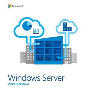 Microsoft Windows Server 2019 Standard Retail 16 CORE 5 CALS 64 bit DVD Key COA sticker in Inglese