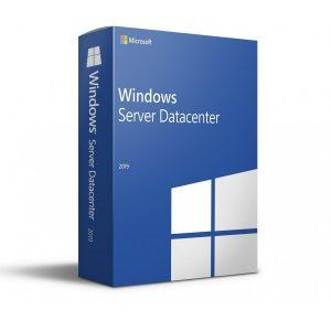 Microsoft Windows Server 2019 Datacenter Retail 16 CORE 5 CALS 64 bit DVD Key COA sticker in Inglese